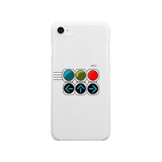 「もう青で良くないか!?」信号 Soft clear smartphone cases