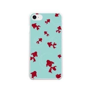 金魚 Soft clear smartphone cases