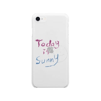 Today is sunny スマホケース Soft clear smartphone cases