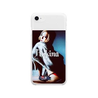 唐獅子牡丹 Soft clear smartphone cases