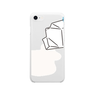 MILK_B Soft clear smartphone cases