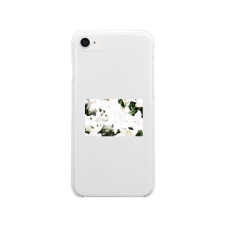 【Lily・白】iPhoneケース Soft clear smartphone cases