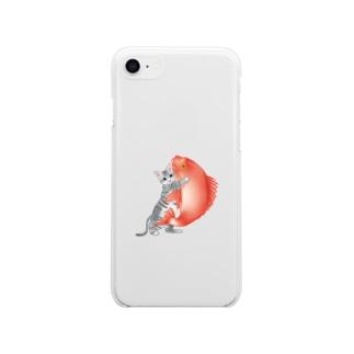 みらくしよしもの恋猫(姫ニャン) Soft clear smartphone cases