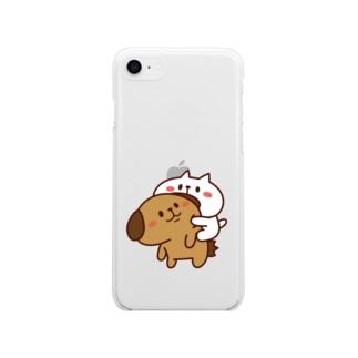 ぶーちゃんとこーすけん ぴた Soft clear smartphone cases