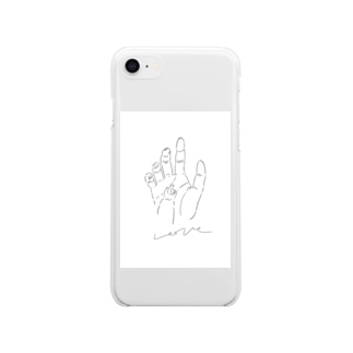 Morigeの愛の手 Soft clear smartphone cases