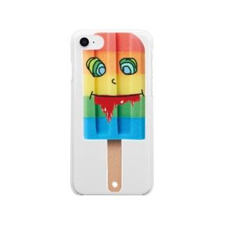 アイスキャンディーデザインケース Soft clear smartphone cases