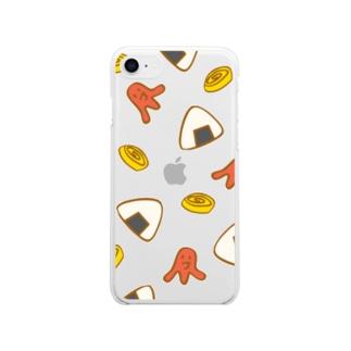 お弁当のおかず Soft clear smartphone cases