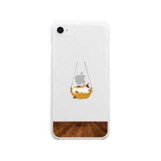 ニャンモックスマホケース(iPhone8) Soft clear smartphone cases