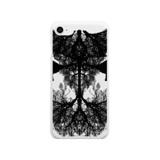 悪魔 Soft clear smartphone cases