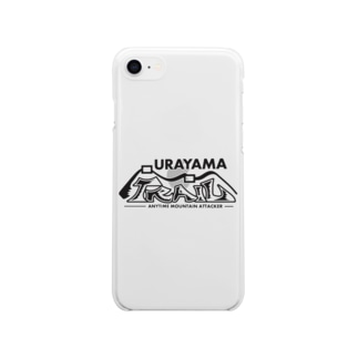 ウラヤマトレイル デザイン3 Soft clear smartphone cases