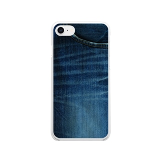 デニムからのデニム Soft clear smartphone cases