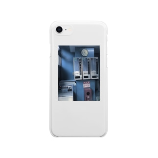 コインランドリー Soft clear smartphone cases