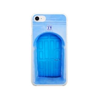 不思議な国のドア【シャウエン】 Soft clear smartphone cases