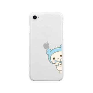 みぎからひょっこりはぴたん Soft clear smartphone cases