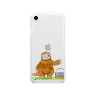 メガテリウムのテリー Soft clear smartphone cases
