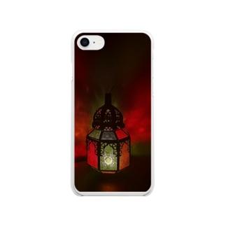 モロッコランプの温かみ Soft clear smartphone cases