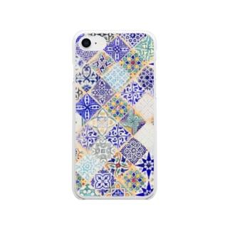 モロッカンタイル【シャウエン】 Soft clear smartphone cases