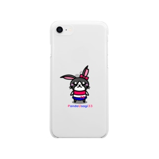 【P.U】 PandaUsagiちゃん Soft clear smartphone cases