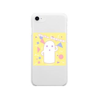白いハニワ【80's】 Soft clear smartphone cases