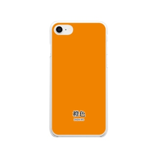 和色コレクションVer-2:橙色(だいだいいろ) Soft clear smartphone cases