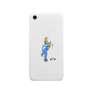 HYW Blue girl Soft clear smartphone cases