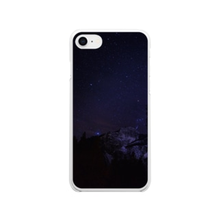 ヨセミテの星空 Soft clear smartphone cases