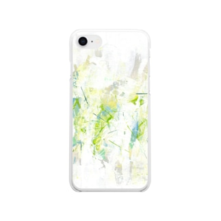 抽象画16 (タテ) Soft clear smartphone cases