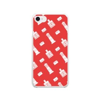 ポストと手紙 Soft clear smartphone cases