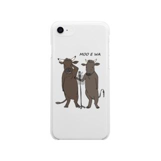 和牛漫才(黒毛和種バージョン) Soft clear smartphone cases