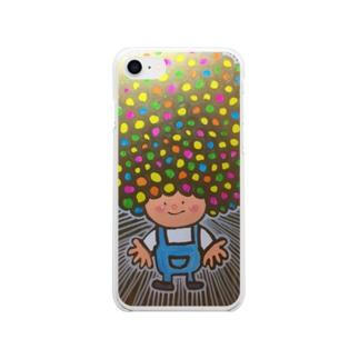 アフロヘルツ出てる Soft clear smartphone cases