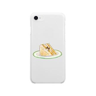 ねことたまご - Egg sandwich Soft clear smartphone cases