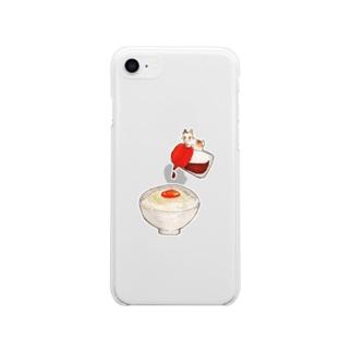 ねことたまご - Tamago kake gohan Soft clear smartphone cases