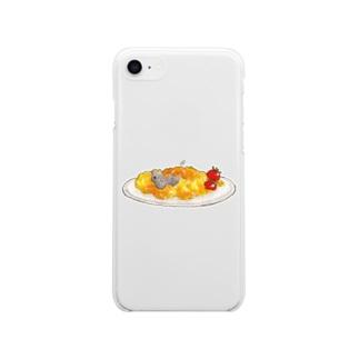 ねことたまご - Scramble eggs Soft clear smartphone cases