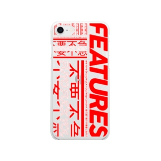 FEATURES STOREのFUYO FUCK YOU_CASE Soft clear smartphone cases