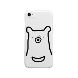くま。 Soft clear smartphone cases