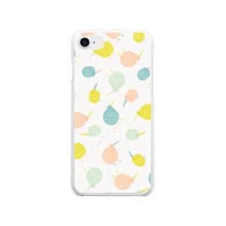 全方位キーウィ (小さなマルチカラー) Soft clear smartphone cases