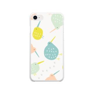 全方位キーウィ (マルチカラー) Soft clear smartphone cases