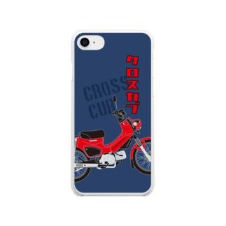 クロスカブ Red Soft clear smartphone cases