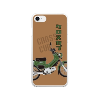 クロスカブ Green Soft clear smartphone cases
