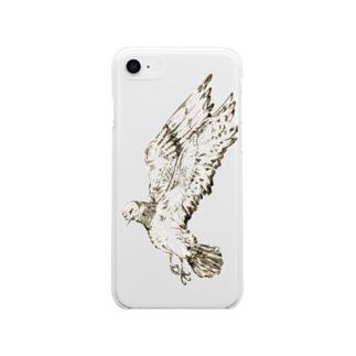 ハト Soft clear smartphone cases