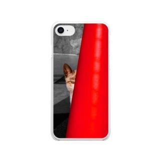 【 野良猫は見た! 】 ソフトiPhoneケース Soft clear smartphone cases