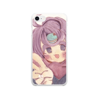 宇宙人うちゅうちゃん Soft clear smartphone cases