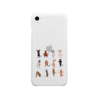 牛さん体操 Soft clear smartphone cases