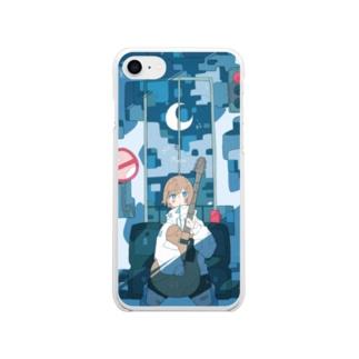 「月が欠ける。」 Soft clear smartphone cases