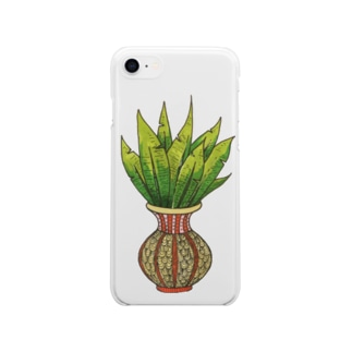 plant0004 Soft clear smartphone cases