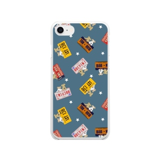 terrier and Westie US license plate Soft clear smartphone cases