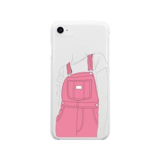 サロペット(ピンク) Soft clear smartphone cases