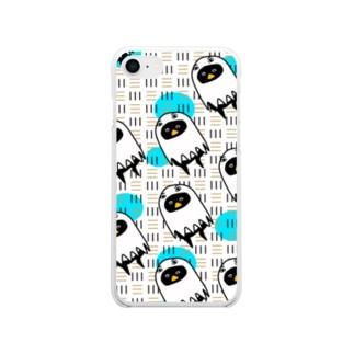 エジプト?ペンギンiPhoneケース Soft clear smartphone cases