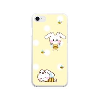 うさころbee!ソフトクリアスマホケース Soft clear smartphone cases