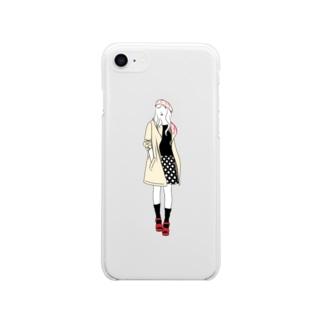 ありうのおみせのChocolat フランボワーズ Soft clear smartphone cases